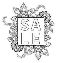 Hand drawn sale frame vector
