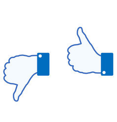 Hand sign on white vector