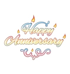 Happy anniversary isolated text vector