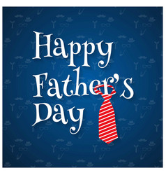 happy fathers day pattern background blue vector image