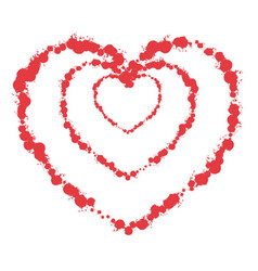 heart grunge1 00000 vector image