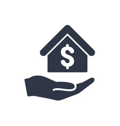 home cost icon - dollar vector image