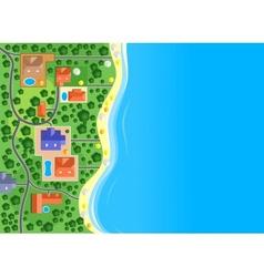 Houses on sea coast vector
