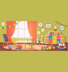 Kindergarten interior daycare nursery vector