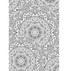 Leaf coloring book mandala zentangl pattern vector