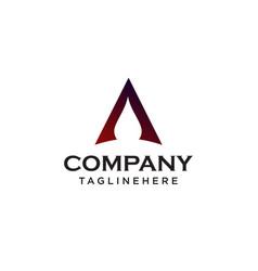 letter a logo minimal design concept vector image