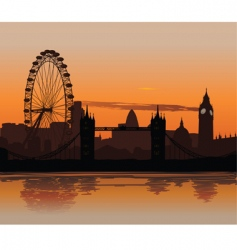 London at sunset vector
