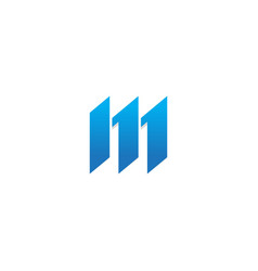 m shape initial business logo vector image