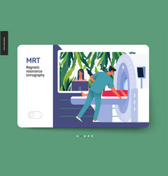 Medical tests template - mrt vector