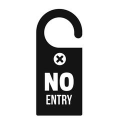 No entry door hanger icon simple style vector