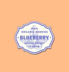 Organic blueberry abstract sign symbol or vector