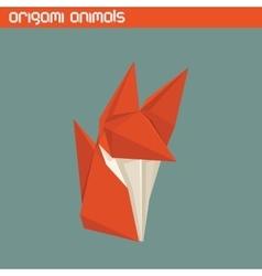 origami isolated animal Cute Fox vector image