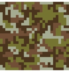 Pixel camo seamless pattern Brown forest vector