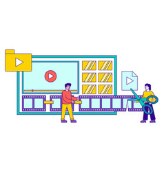 production high-quality video content concept vector image