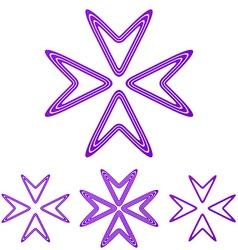 Purple line arrow logo design set vector
