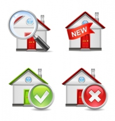 Real estate icons set 1 vector
