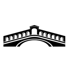 Rialto bridge icon simple black style vector