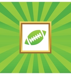 Rugby picture icon vector