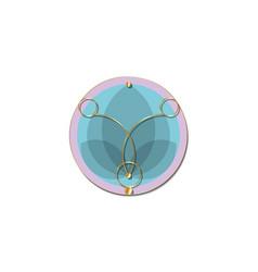 Sacred lotus purple flower life geometry vector