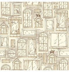 Seamless Pattern with Different Windows vector image
