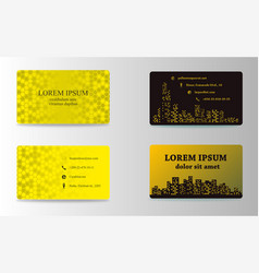Set of modern business card print templates vector