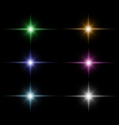 set of Star burst vector image
