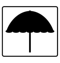 Sign beach umbrella 205 vector image
