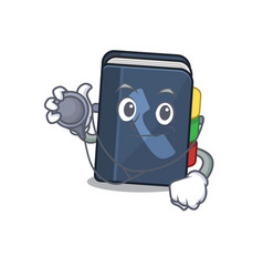 Smart and cool phone book cartoon character in a vector