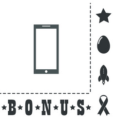 smartphone icon sign and button vector image