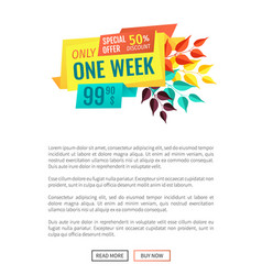 special offer exclusive sale vector image