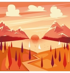 summer sunset vector image