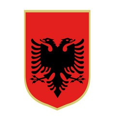 symbol of albania national emblem vector image