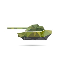 Tank icon abstract vector image