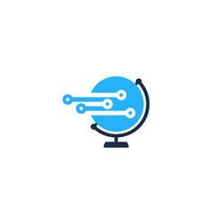 technology globe logo icon design vector image
