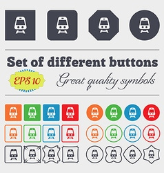Train icon sign Big set of colorful diverse vector image