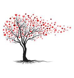 tree branch love ilustration design vector image