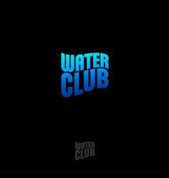 water club logo vector image