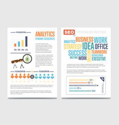 Business analytics banner set with businessmen vector
