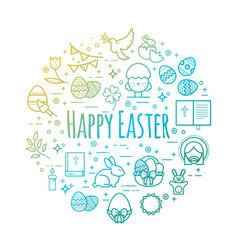 Celebration easter signs happy easter vector