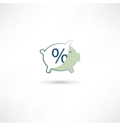 moneybox and percent vector image