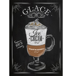Poster glace chalk vector image vector image