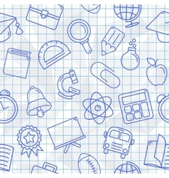 School Symbols Seamless Pattern vector image vector image