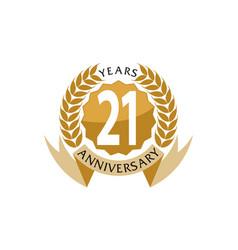 21 years ribbon anniversary vector image vector image
