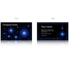 Black modern business card vector image vector image