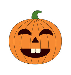 happy halloween cartoon pumpkin vector image