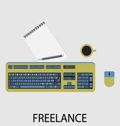 Freelance icon flat design vector image
