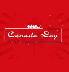 happy canada day7 vector image