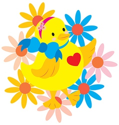 Happy Chick vector image vector image