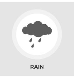 Rain flat icon vector image vector image