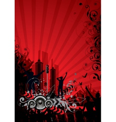 red city background vector image